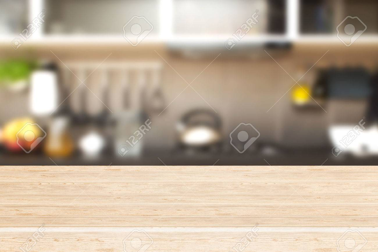 Kitchen Table Background interior of kitchen and desk space. stock photo, picture and