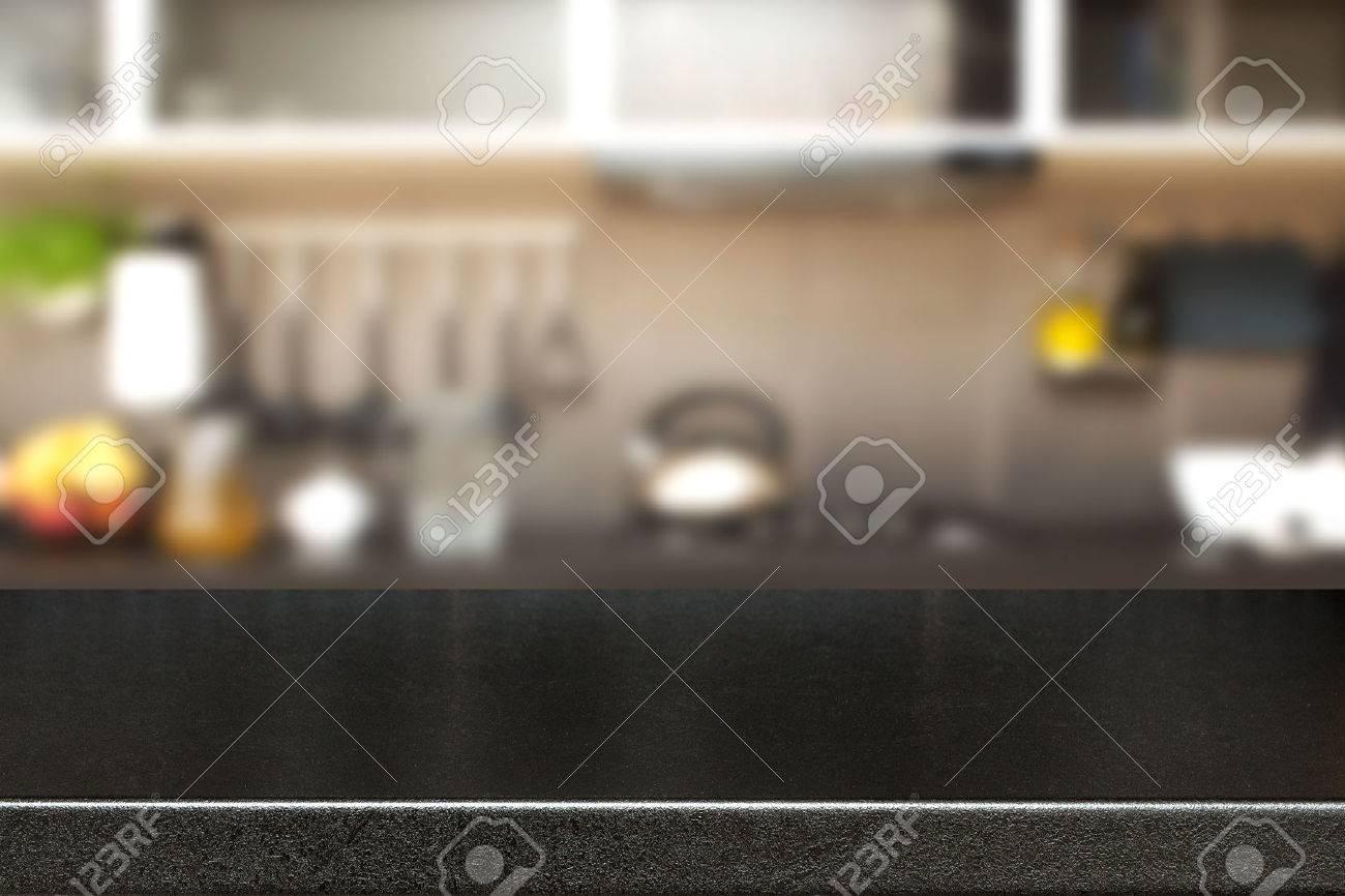 Intérieur de la cuisine et de l'espace de bureau. Banque d'images - 44883949