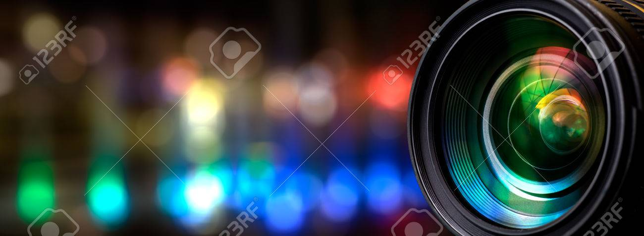 Camera lens with lense reflections. Stock Photo - 57169675