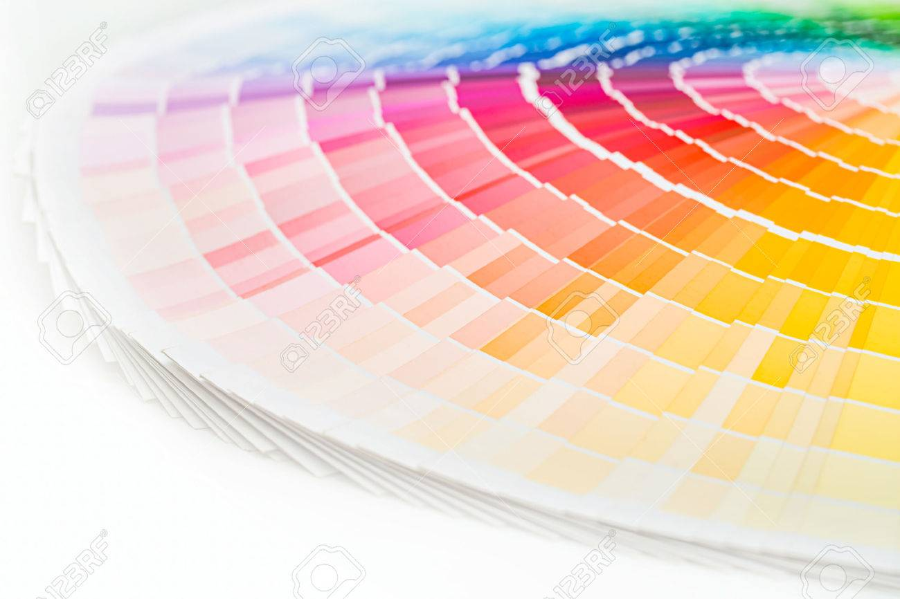 Colour swatches book. Rainbow sample colors catalogue. - 62610222