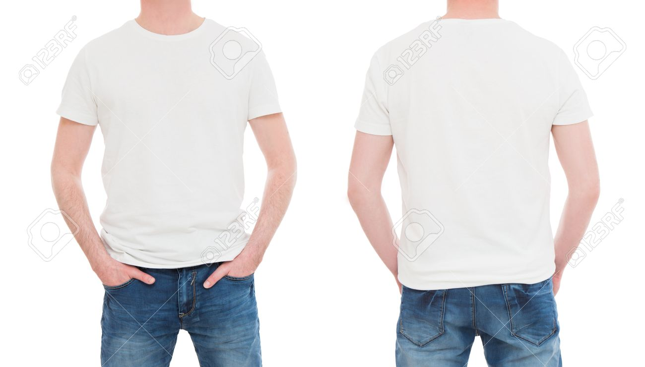 T shirt white mockup - Shirt White Template Mockup Tshirt Men Blank Stock Image Stock Photo 64976844