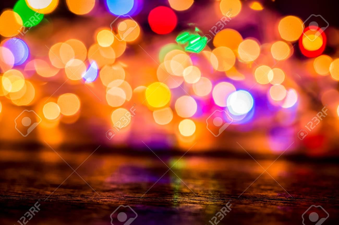 Christmas Lights Background.Blurred Christmas Lights Background Defocused Light Holiday