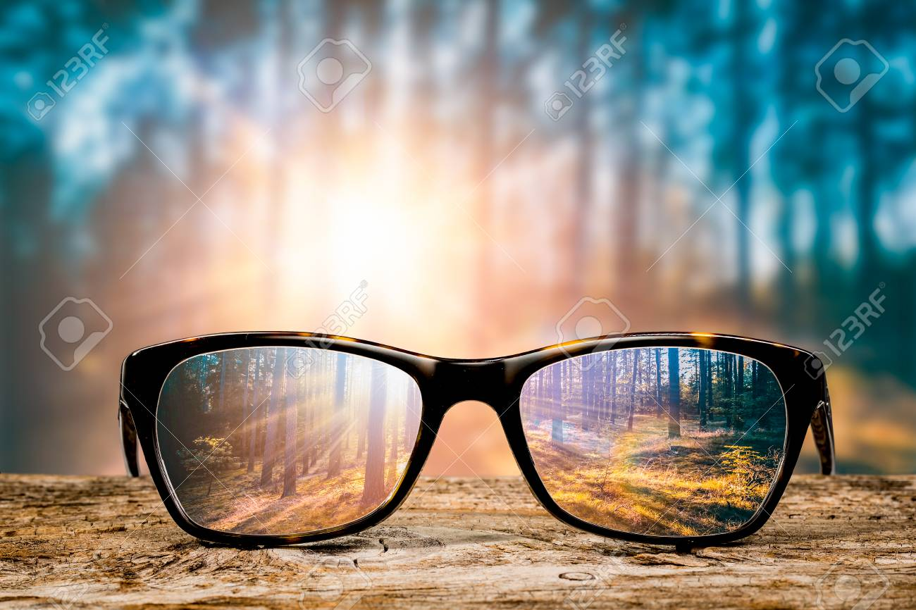 Image result for eyeglasses and sunset