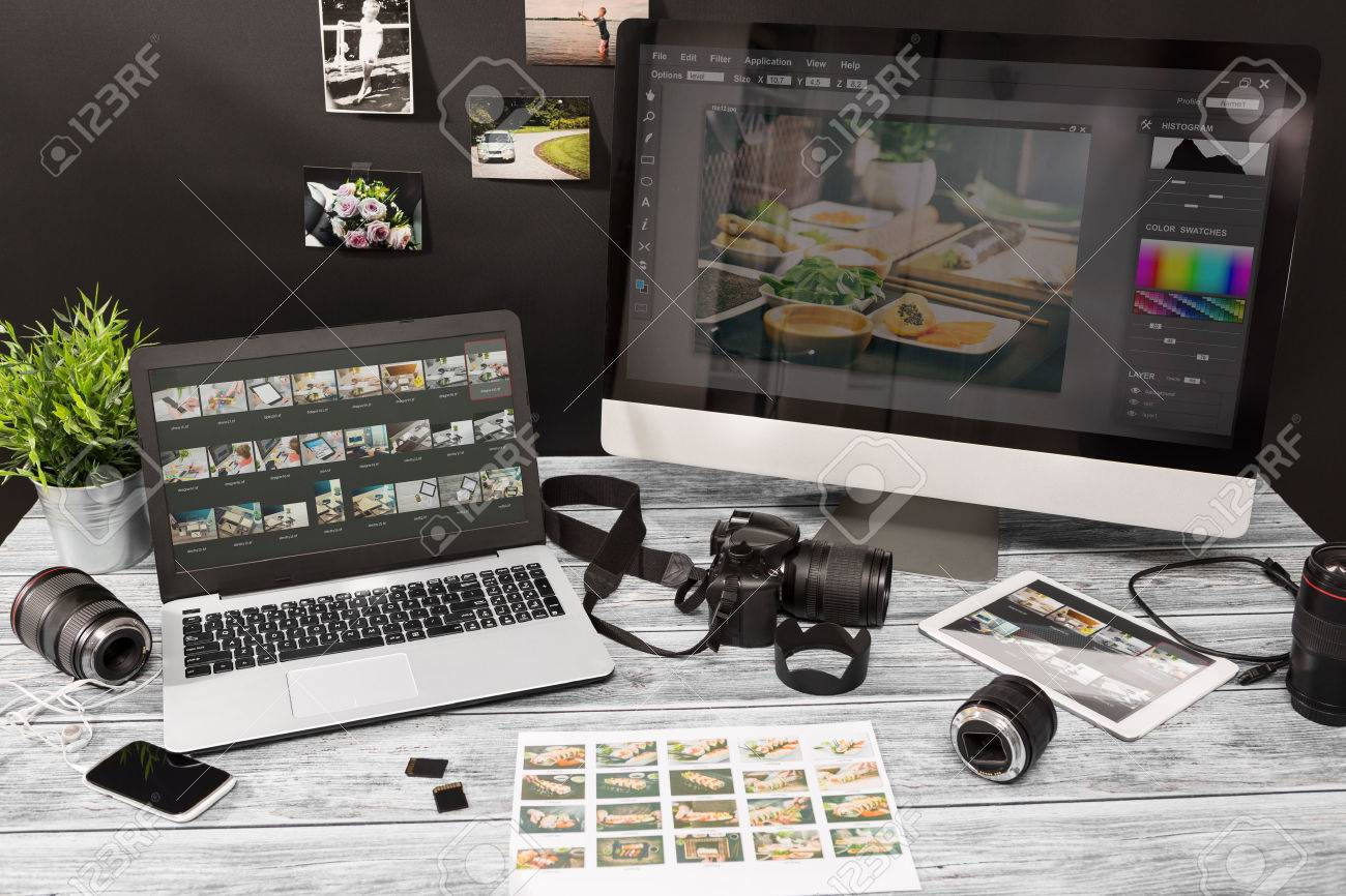 photographer photographic photograph journalist camera traveling photo dslr editing edit hobbies lighting concept - stock image Stock Photo - 73188609