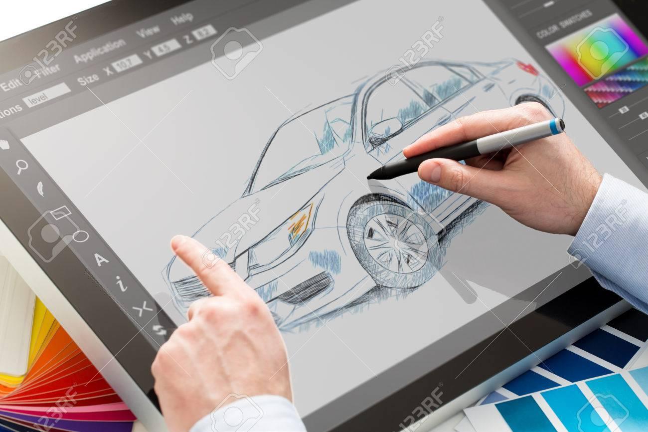Designer Grafik Zeichnung Auto Kreative Kreativität Zeichnen Arbeit ...