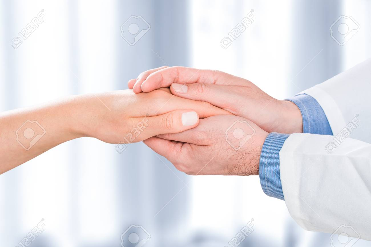 Patient doctor trust hand compassion medical thanks medic male patient doctor trust hand compassion medical thanks medic male female woman visit practitioner sympathy human positive buycottarizona Images