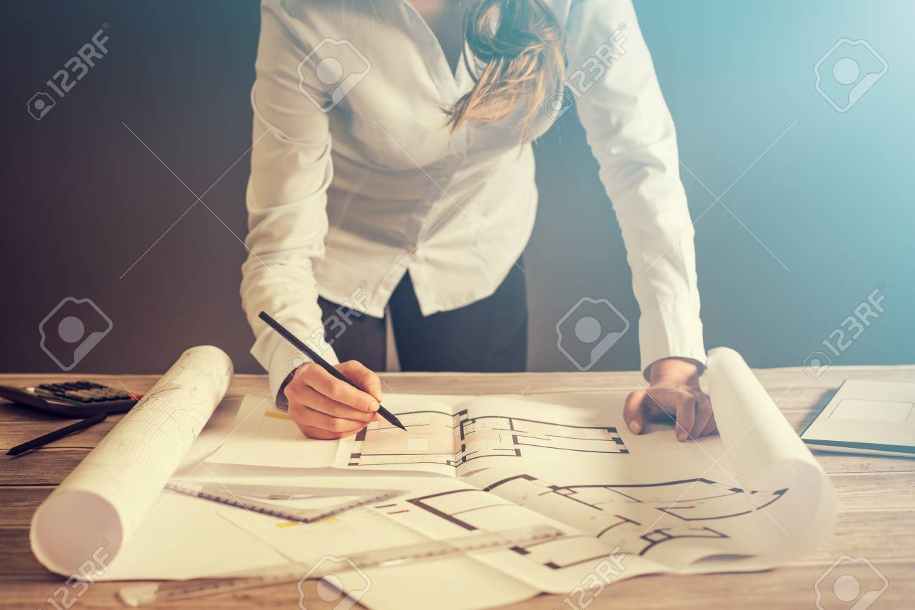 Architect architecture drawing project blueprint office business architect architecture drawing project blueprint office business working architectural construction design designer ruler table workplace concept malvernweather Image collections