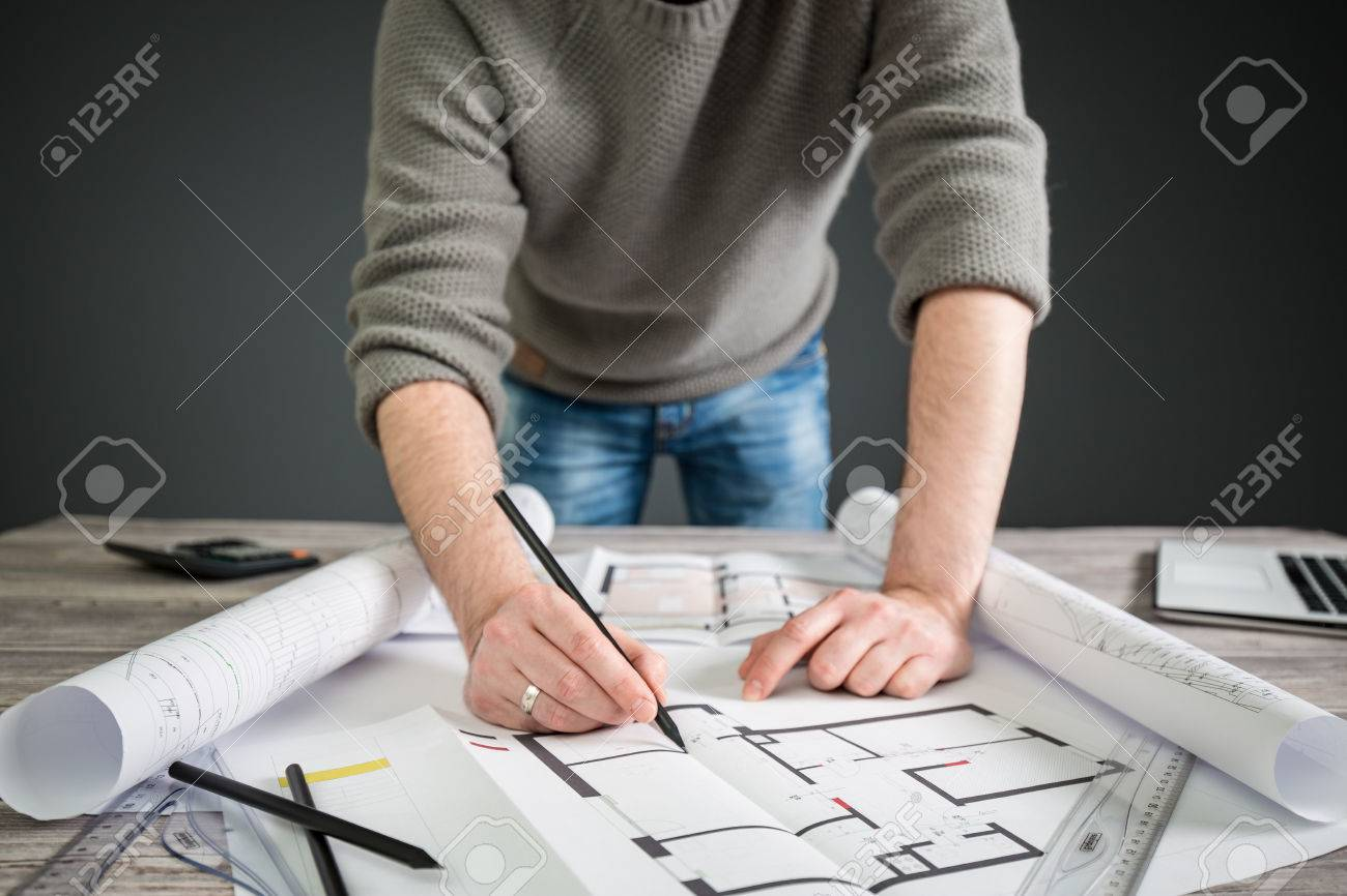 Architect architecture drawing project blueprint office business architect architecture drawing project blueprint office business working architectural construction design designer ruler table workplace concept malvernweather Gallery