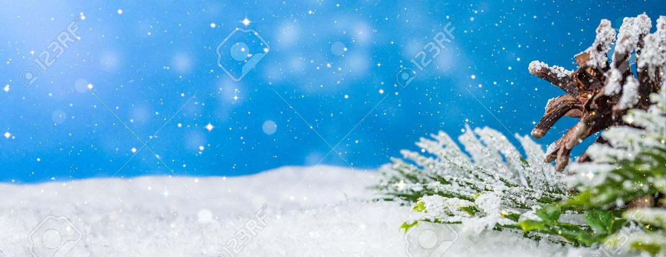 Schnee Hintergrund Nahaufnahme Dekoration Weiße Weihnachten Raum ...