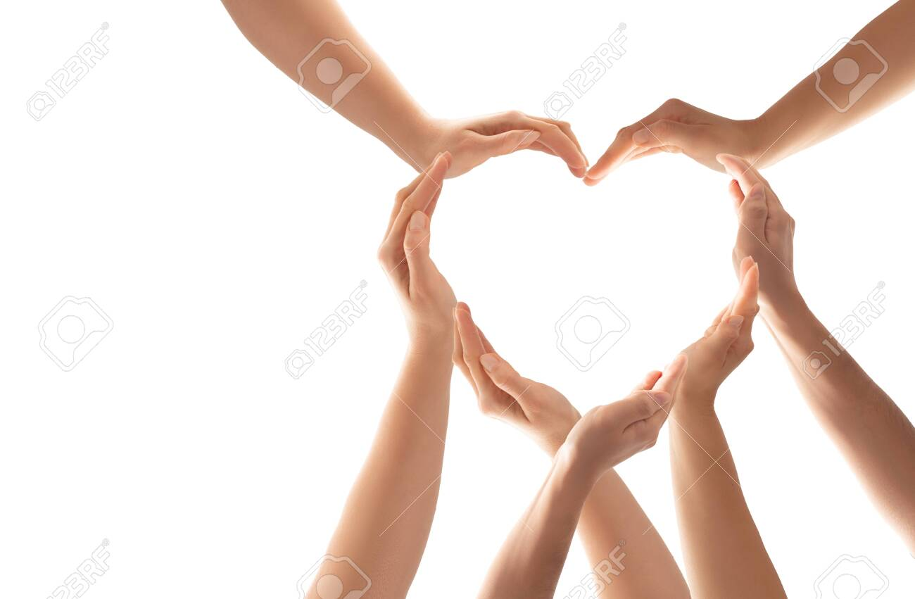 Symbol And Shape Of Heart Created From Hands The Concept Of Unity Stock Photo Picture And Royalty Free Image Image 137961829