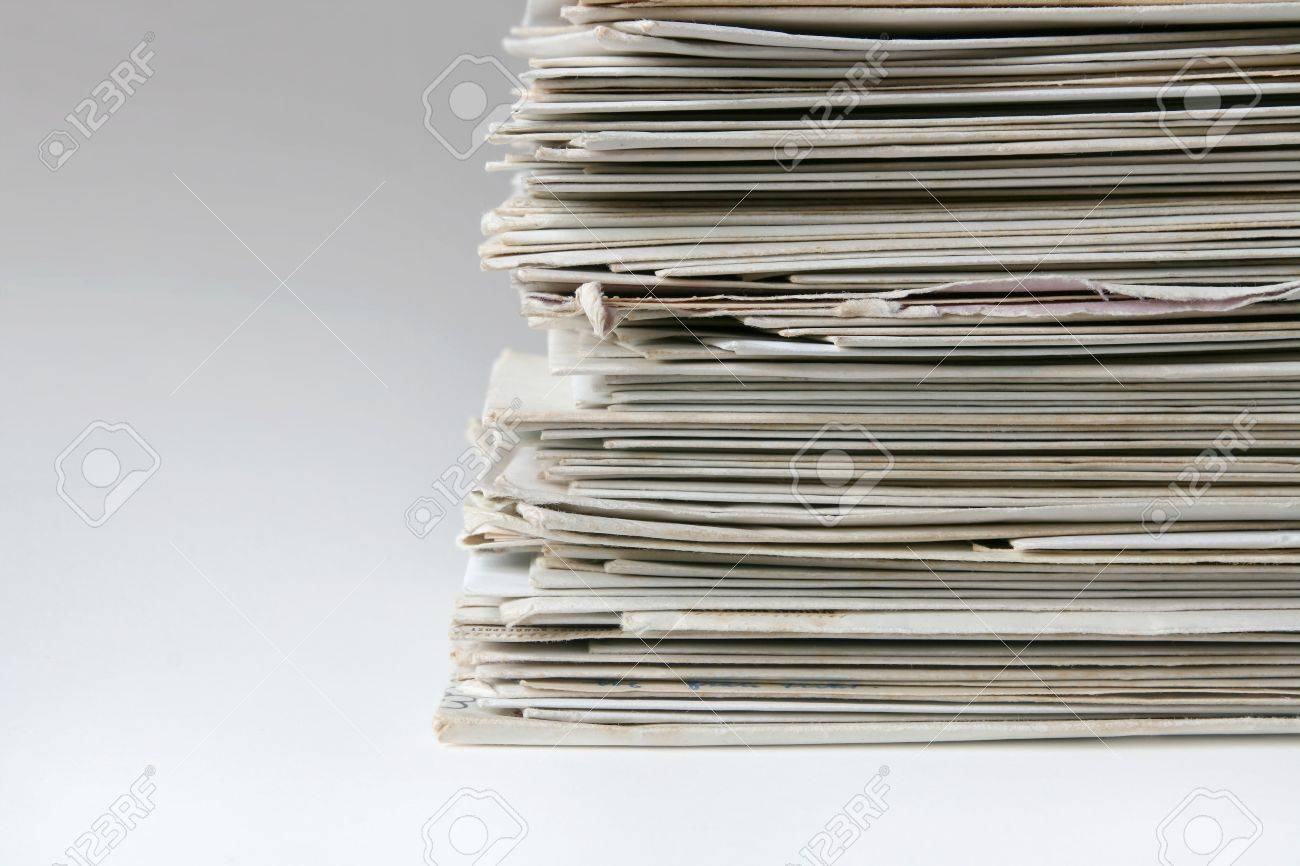 Big pile of old letters and postcards, useful to illustrate spam or mail correspondence Stock Photo - 4531547