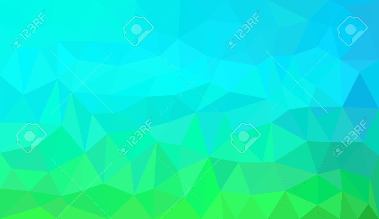 Blue Green Gradient Abstract Geometric Triangular Polygon Style