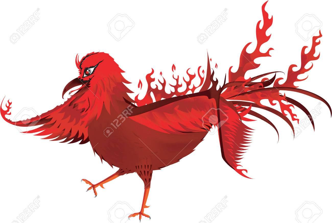 Red phoenix bird royalty free cliparts vectors and stock red phoenix bird stock vector 43155252 voltagebd Choice Image