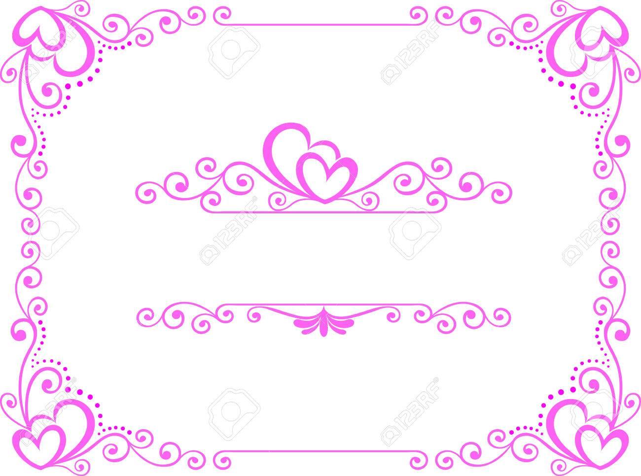 Pink Frame Floral Vector Design Corner Frame Royalty Free Cliparts ...