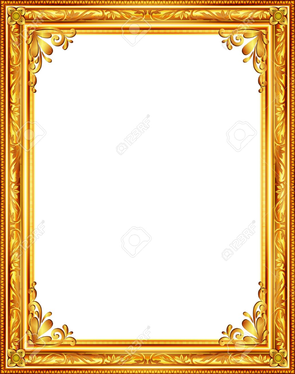 vector gold frame louis picture vector abstract design