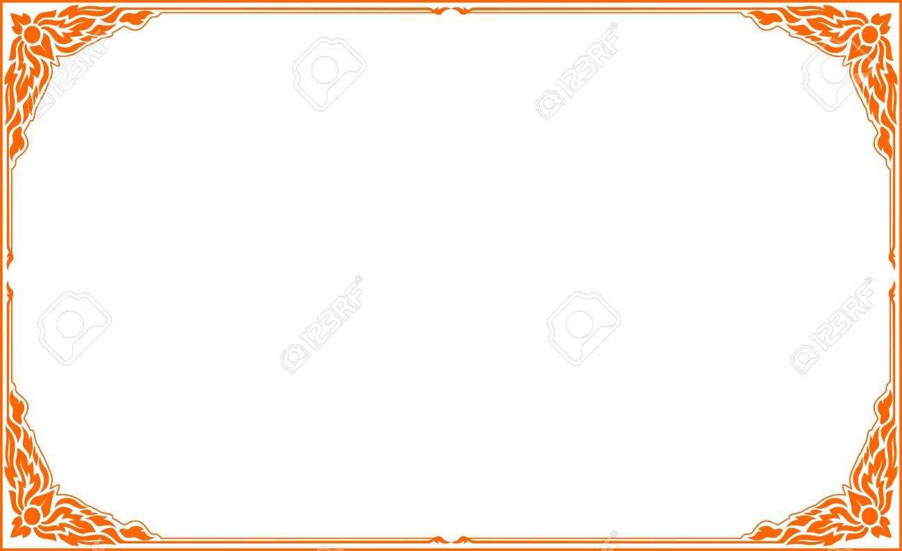 Orange Frame, Frame Floral Vector, Corner For Sticker Cut, Frame ...