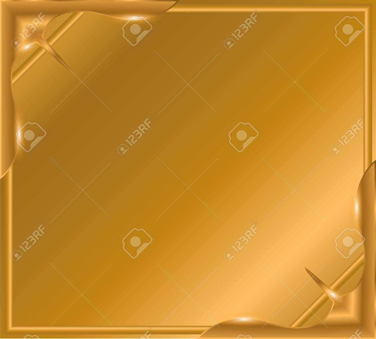 Gold-Bilderrahmen Mit Ecke Linie Blumen Für Bild, Design Dekoration ...