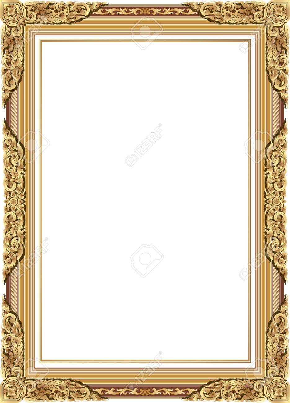 gold frame border vector. Delighful Gold Gold Frame Border Vector Photo With Corner Line Floral For  Picture Vector Inside Gold Frame Border Vector