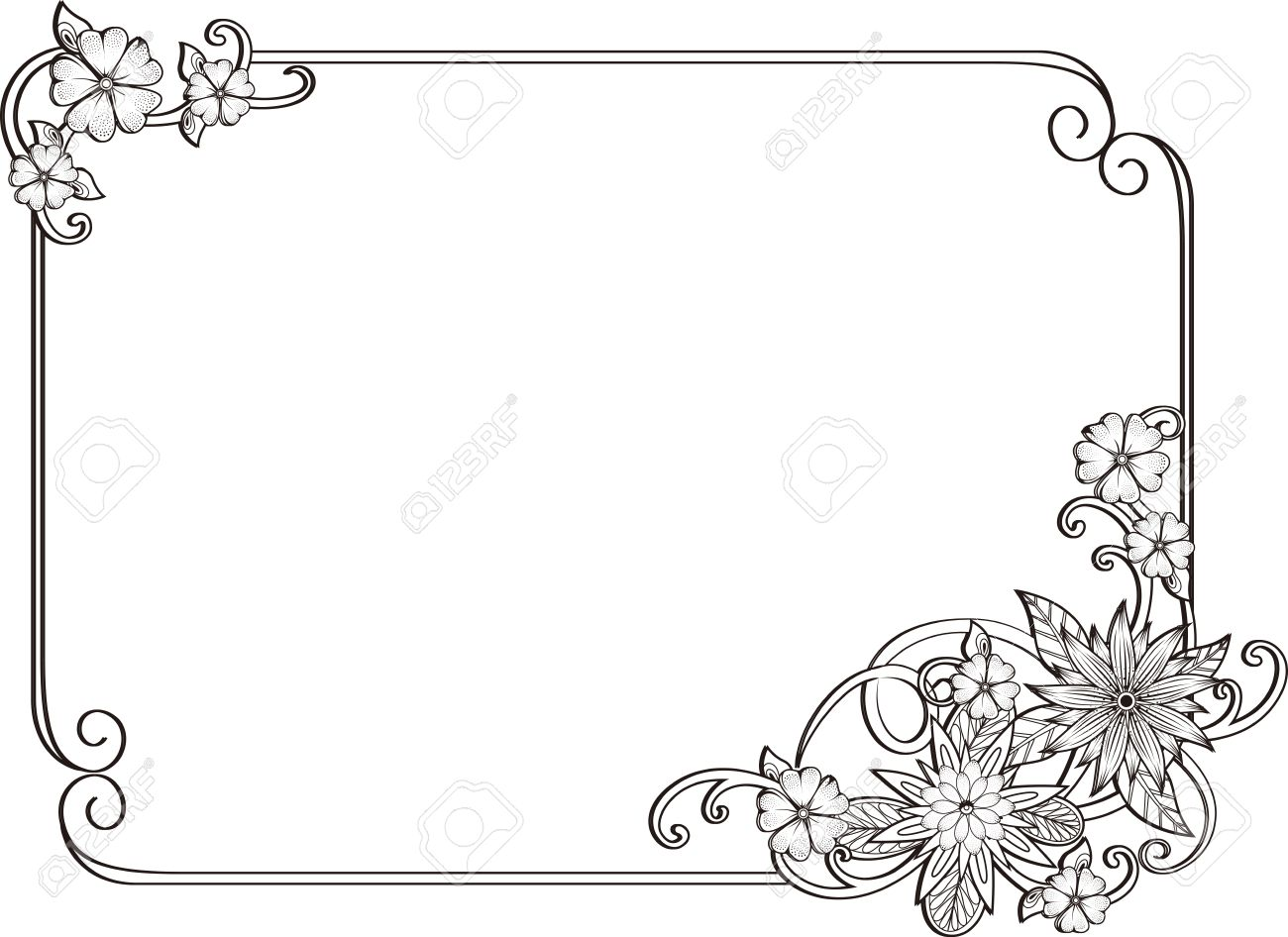 Corner Gold.Page Decoration. Decorative Frame Floral Elements ...