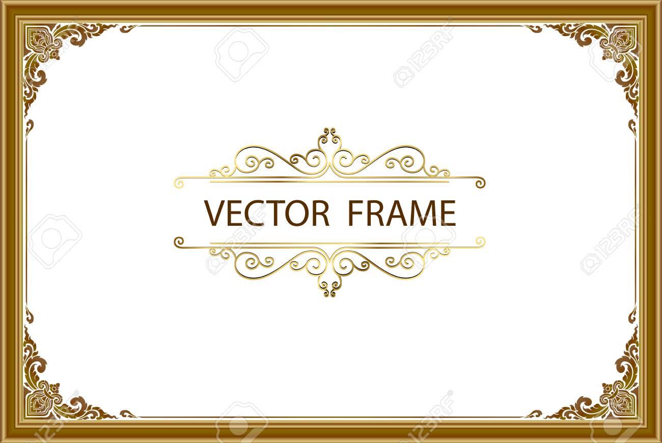 Thai art with Golden border frame - 87886159