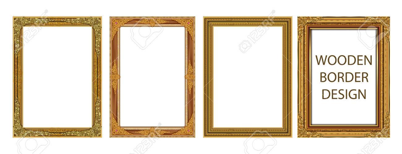 Set Of Decorative Vintage Frames And Borders Set,Gold Photo Frame ...