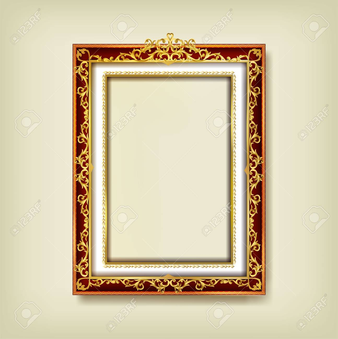 acf551184f7 ... Vector design decoration pattern style. border design is pattern Thai  art style. Decorative vintage frames and borders set,Gold photo frame with  corner ...