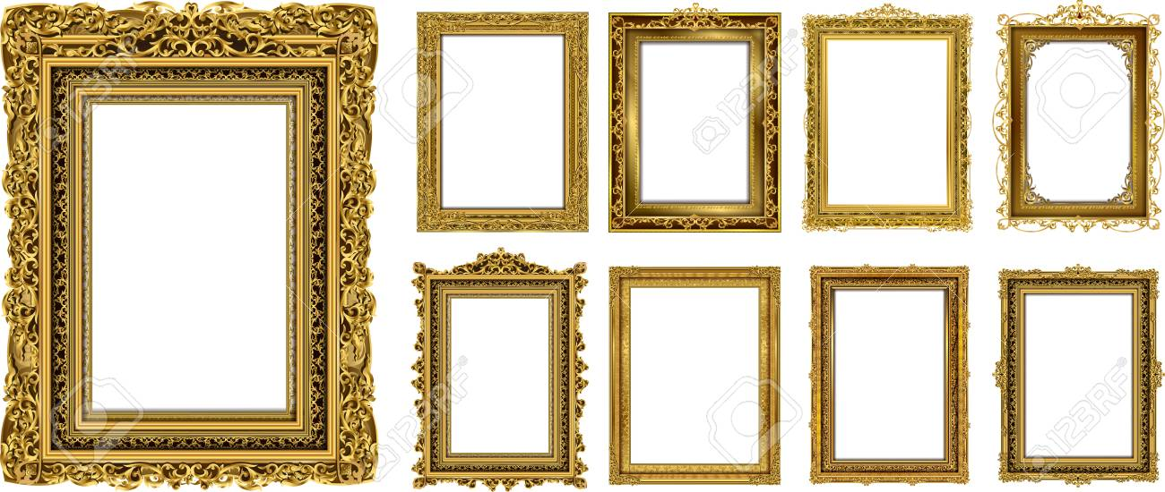 02a620820f7 ... Vector design decoration pattern style. border design is pattern Thai  art style. Set of Decorative vintage frames and borders set,Gold photo frame  with ...