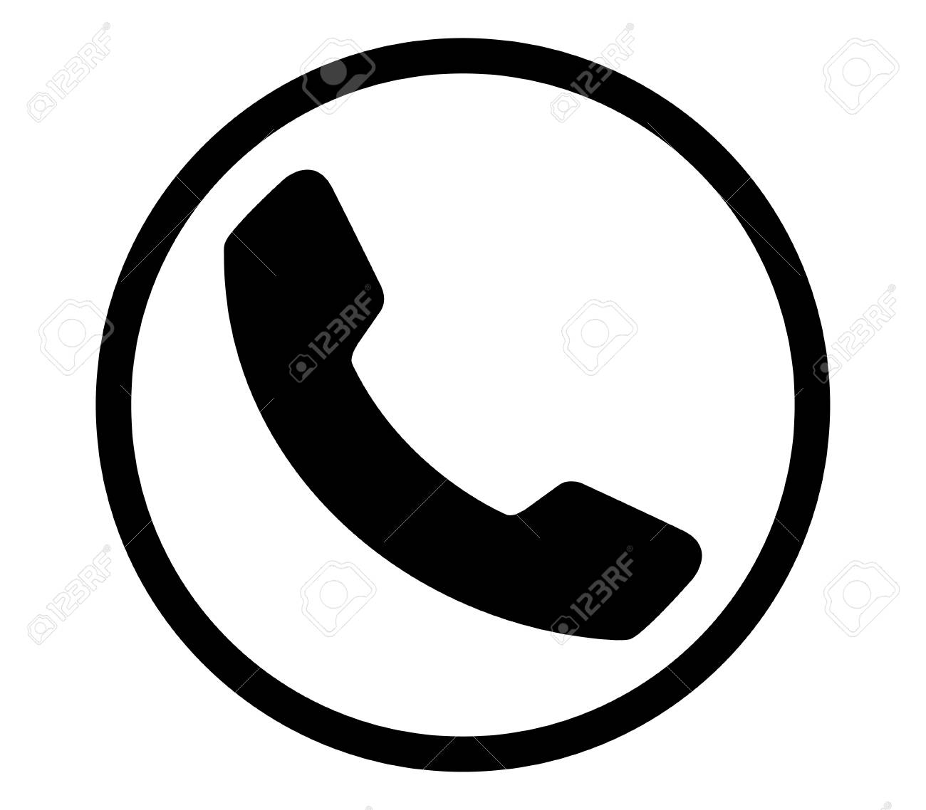 Black Phone Icon Design