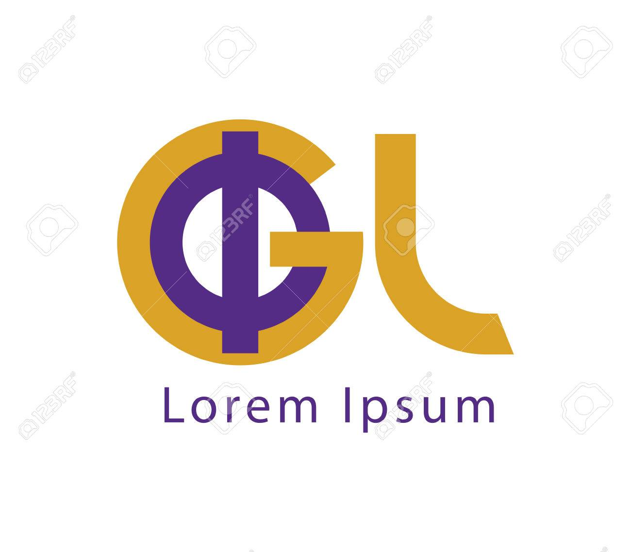 ピピと Gl ロゴデザインのコンセプトのイラスト素材ベクタ Image