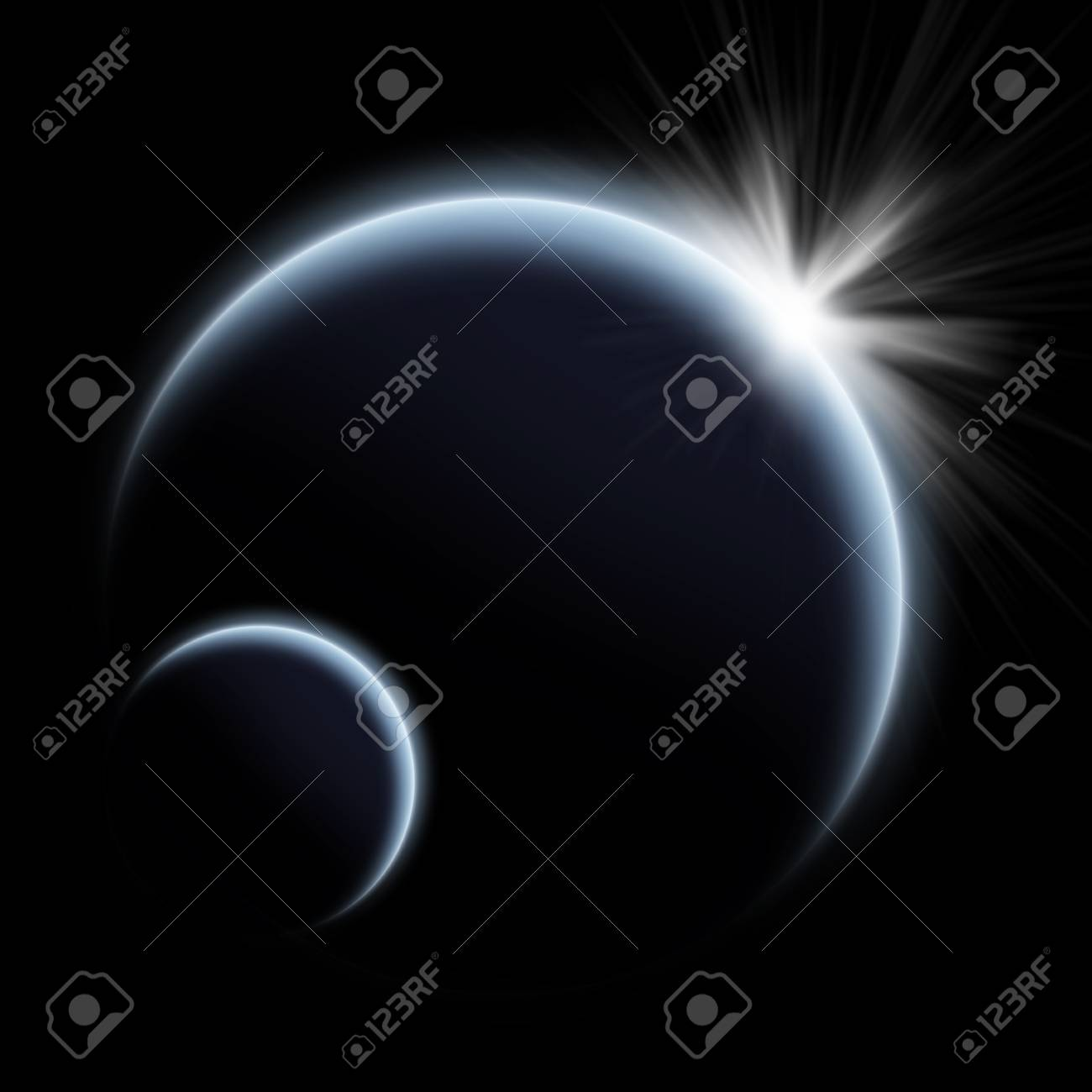 Planet earth lanscape in space Stock Photo - 13895680