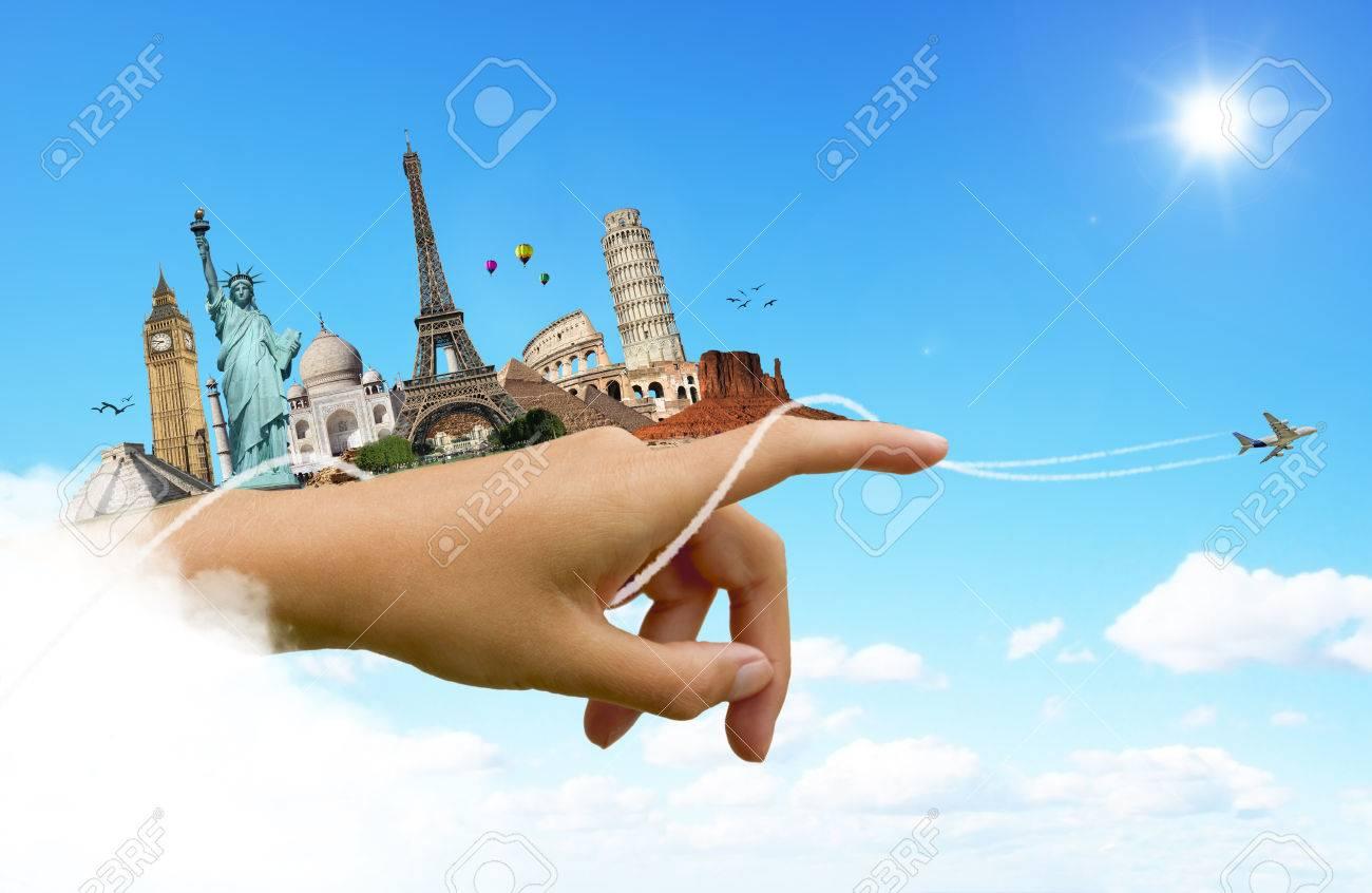 26674473-De-c-l-bres-monuments-de-la-notion-de-monde-Voyage-Banque-d'images