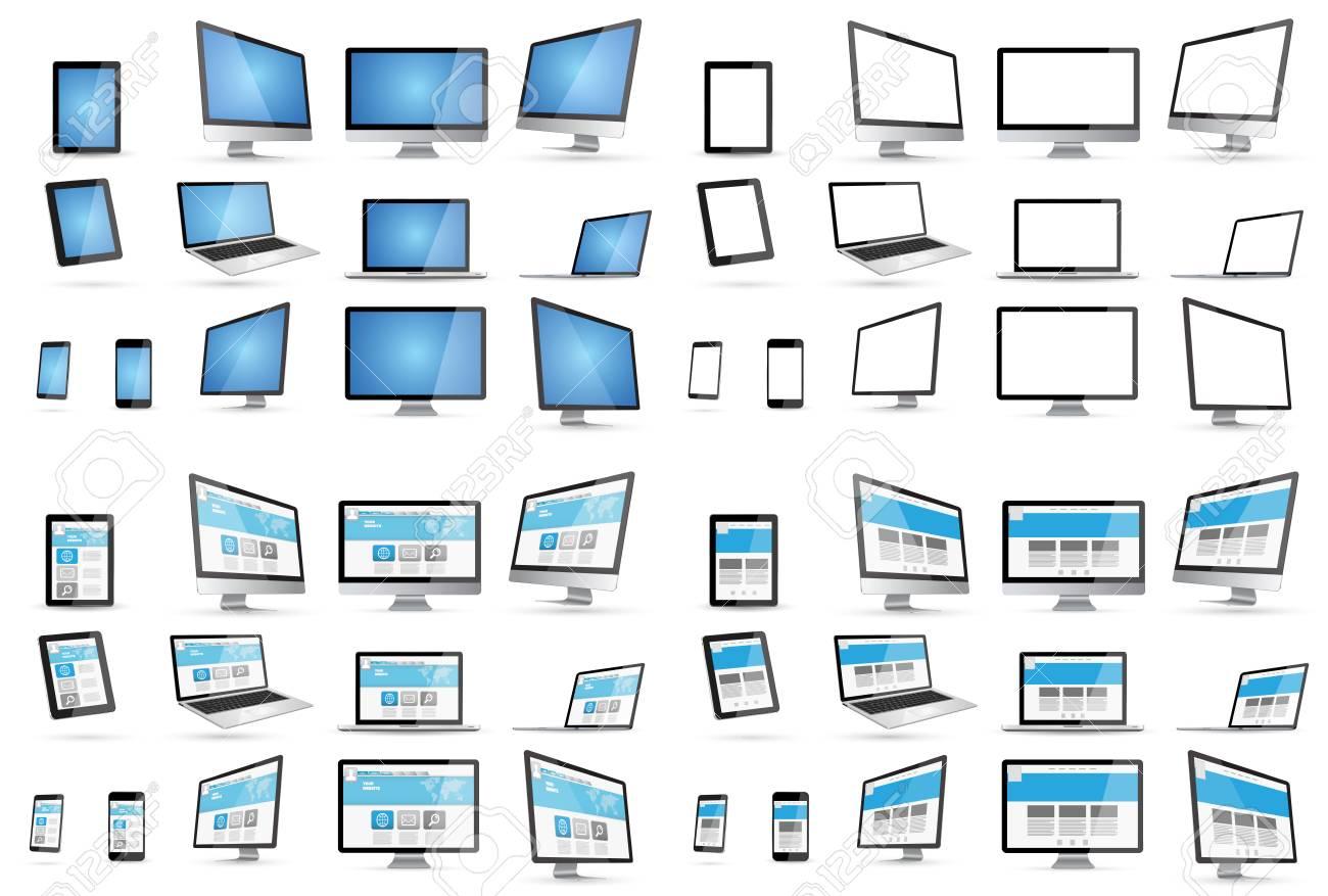 Moderne Tech Geräte Sammlung Standard Bild   54273043