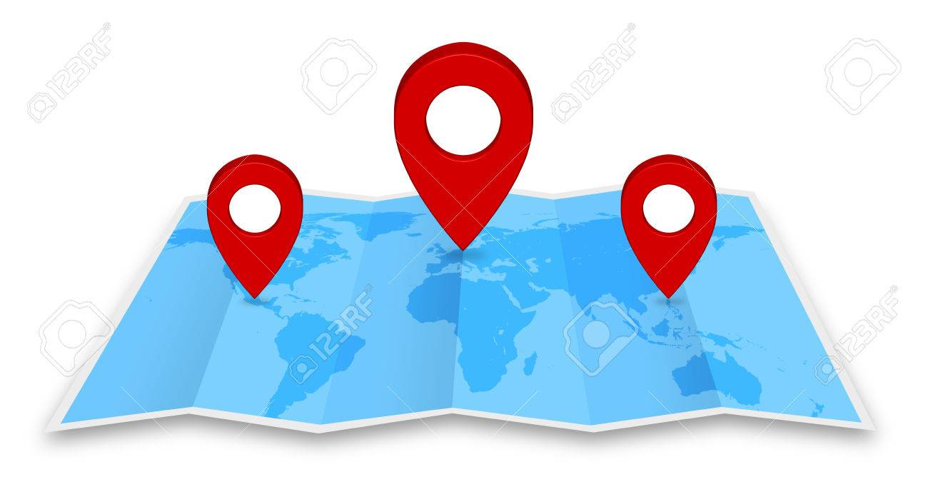 Pin map marker pointer icon on a blue world map stock photo picture pin map marker pointer icon on a blue world map stock photo 43158805 gumiabroncs Choice Image