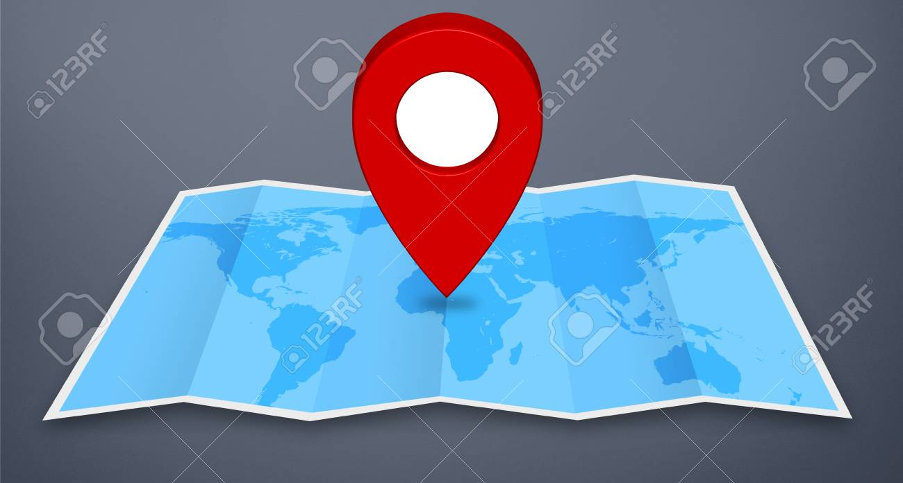 Pin map marker pointer icon on a blue world map fotos retratos pin map marker pointer icon on a blue world map foto de archivo 44355114 gumiabroncs Gallery