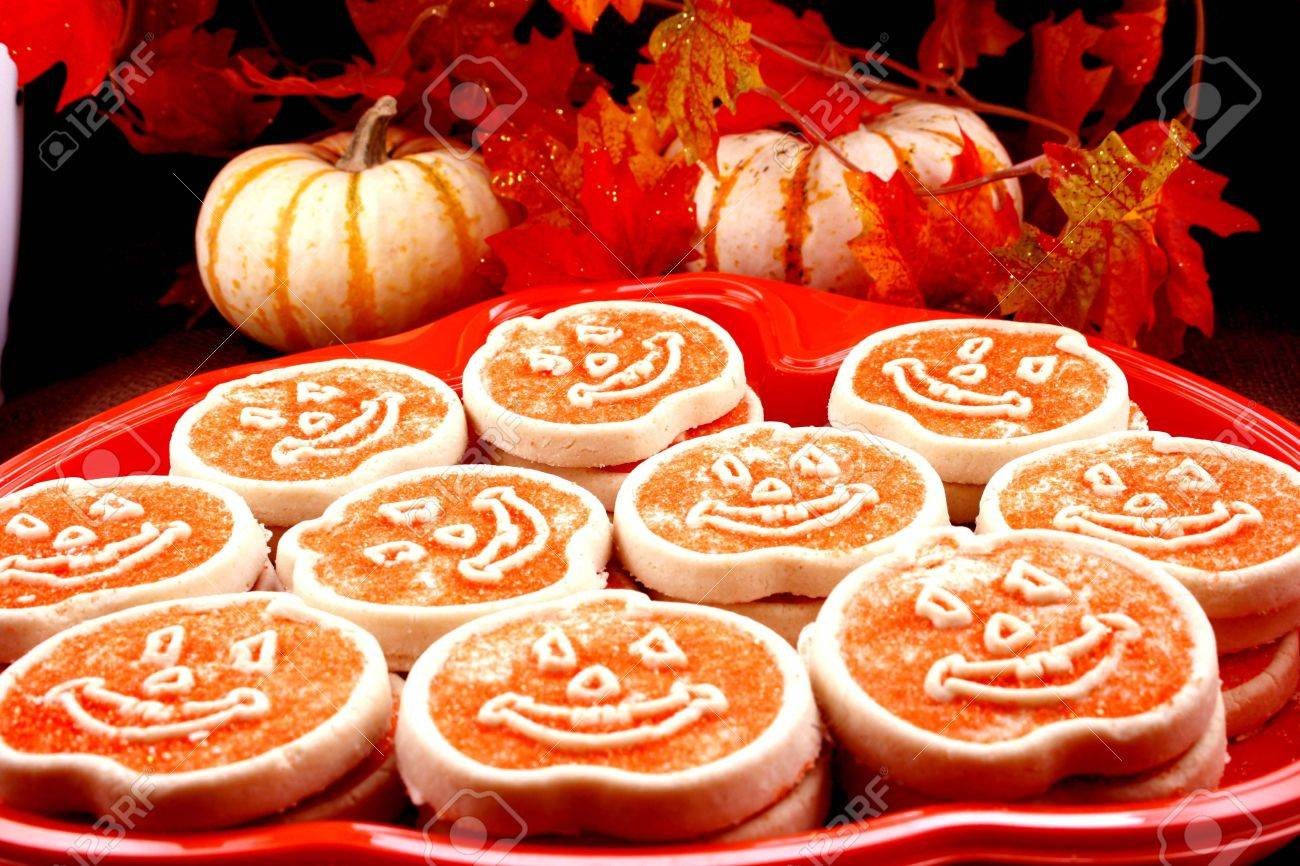 Platter Of Halloween Cookies Stock Photo, Picture And Royalty Free ...