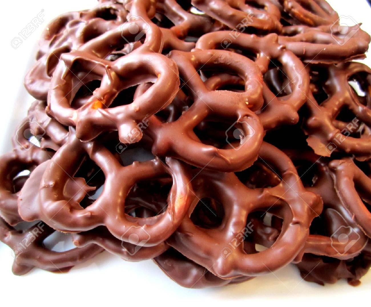 Chocolate Covered Pretzels Stock Photo, Picture And Royalty Free ...