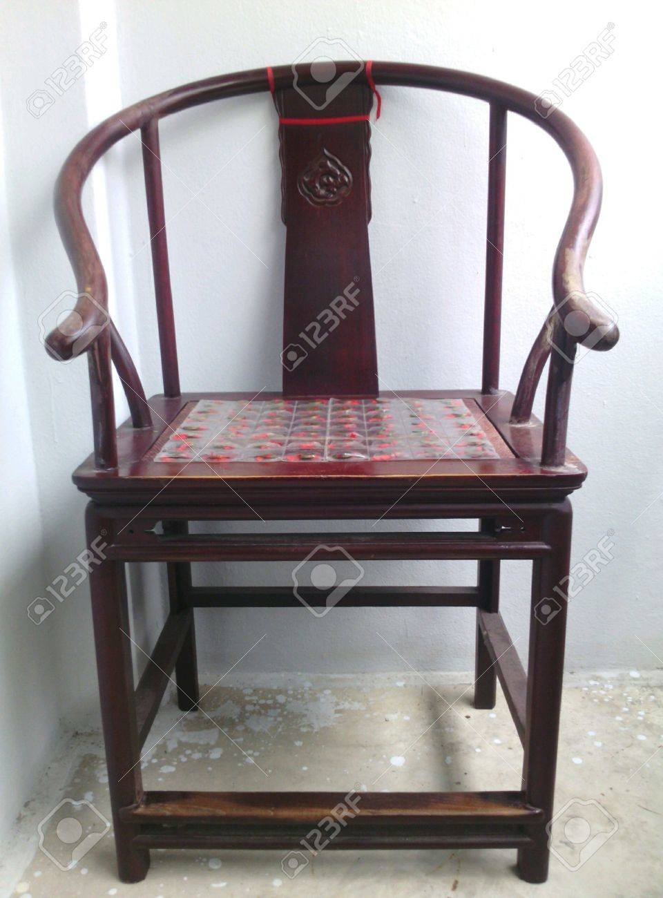 Chinese Armchair In Chinese Style. Stock Photo   40075631