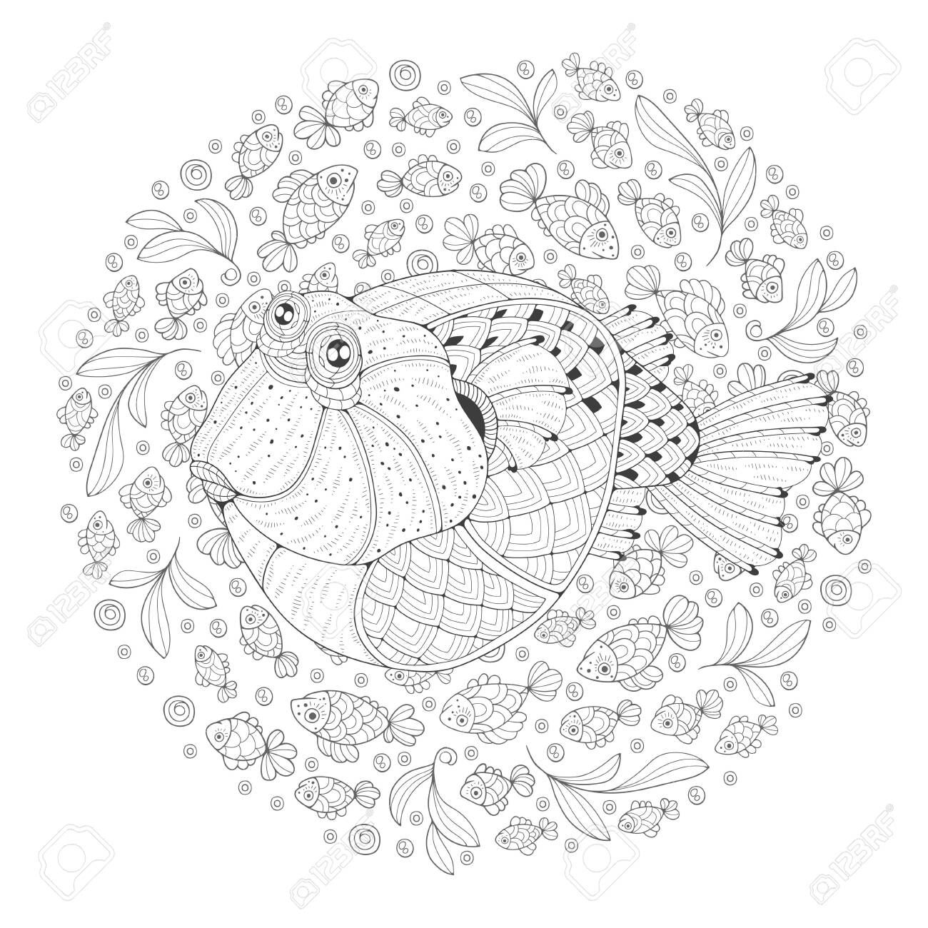 Puffer Fish Coloring Page - Free Pufferfish Coloring Pages ... | 1300x1300