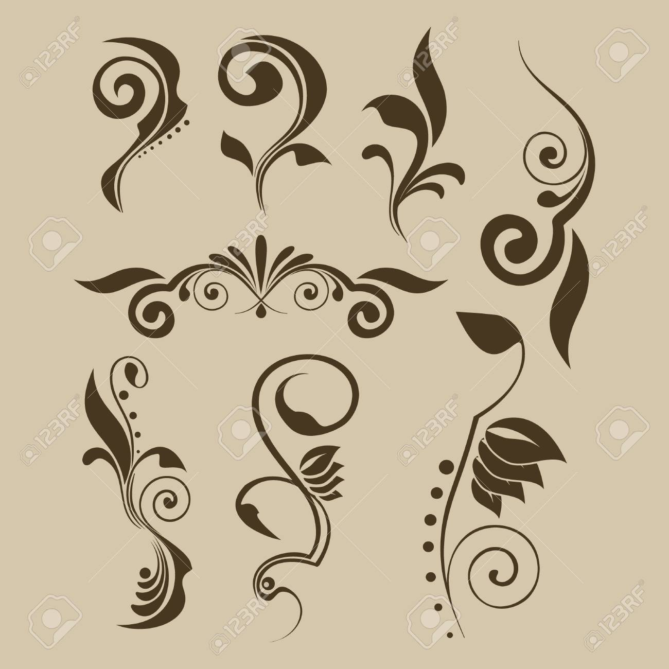 Set of vector patterns for design Stock Vector - 3946815