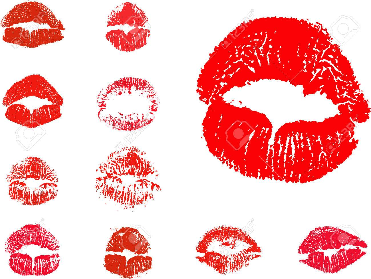 vector kiss icons Stock Vector - 4174111