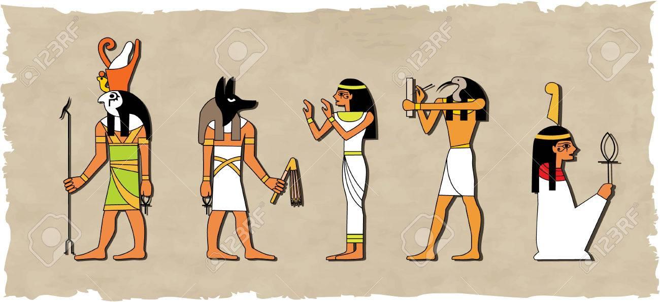 the vector set of egyptian god Stock Vector - 4525952
