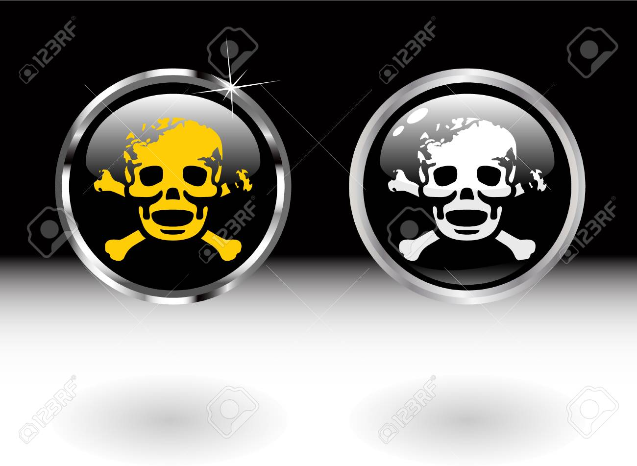 the vector danger color buttons Stock Vector - 4550625