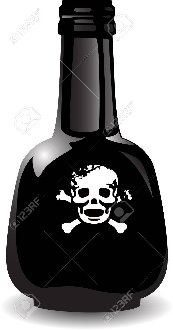 the vector black bottle of the poison Stock Vector - 4550631