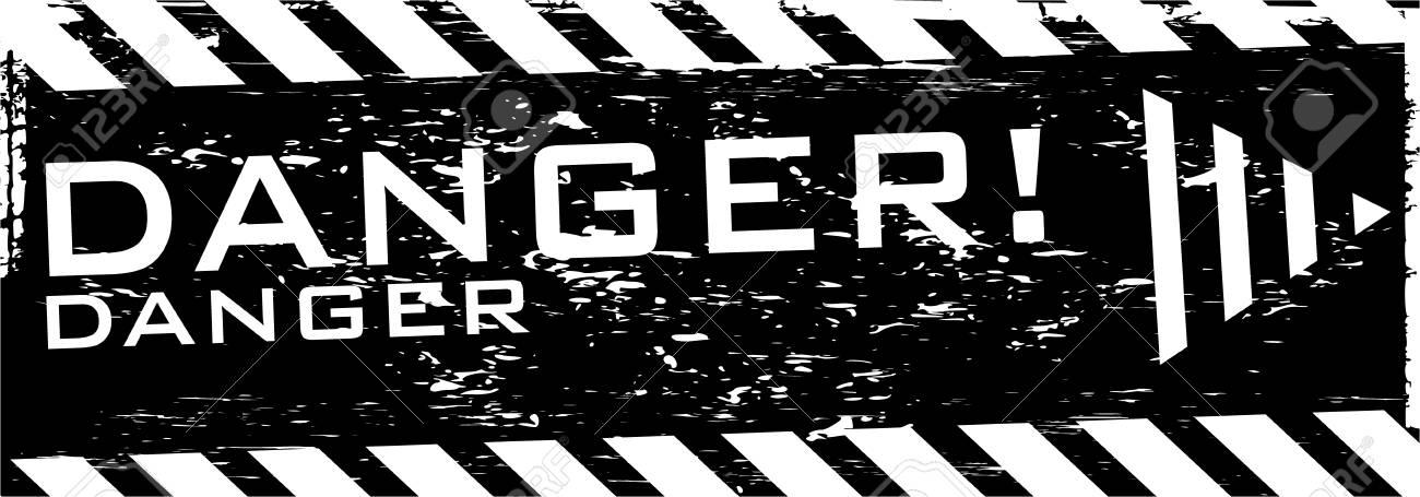 the vector dirty orange danger banner with arrow Stock Vector - 4550632