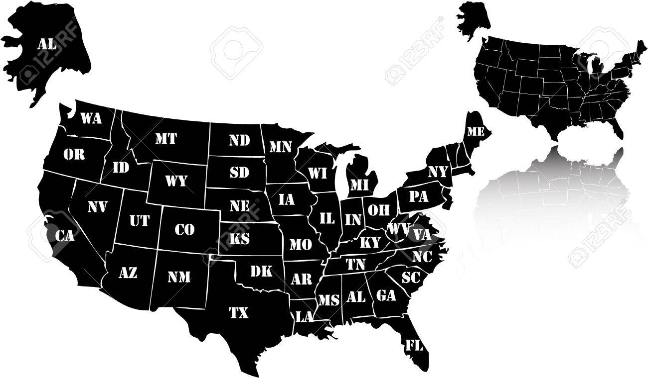 Maps Update 626396 Map Usa Vector Us Map Vector Vector 59 – Map Usa Black and White