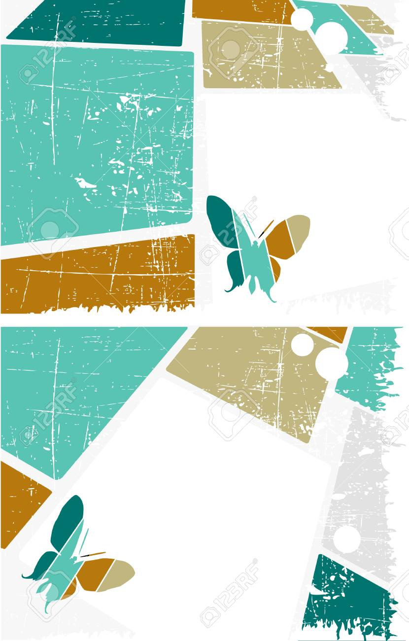 the vector retro grunge background set Stock Vector - 5505040