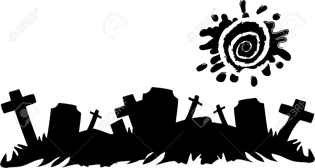 the vector halloween cemetery banner royalty free cliparts vectors rh 123rf com Halloween Silhouette Patterns Halloween Silhouette Clip Art