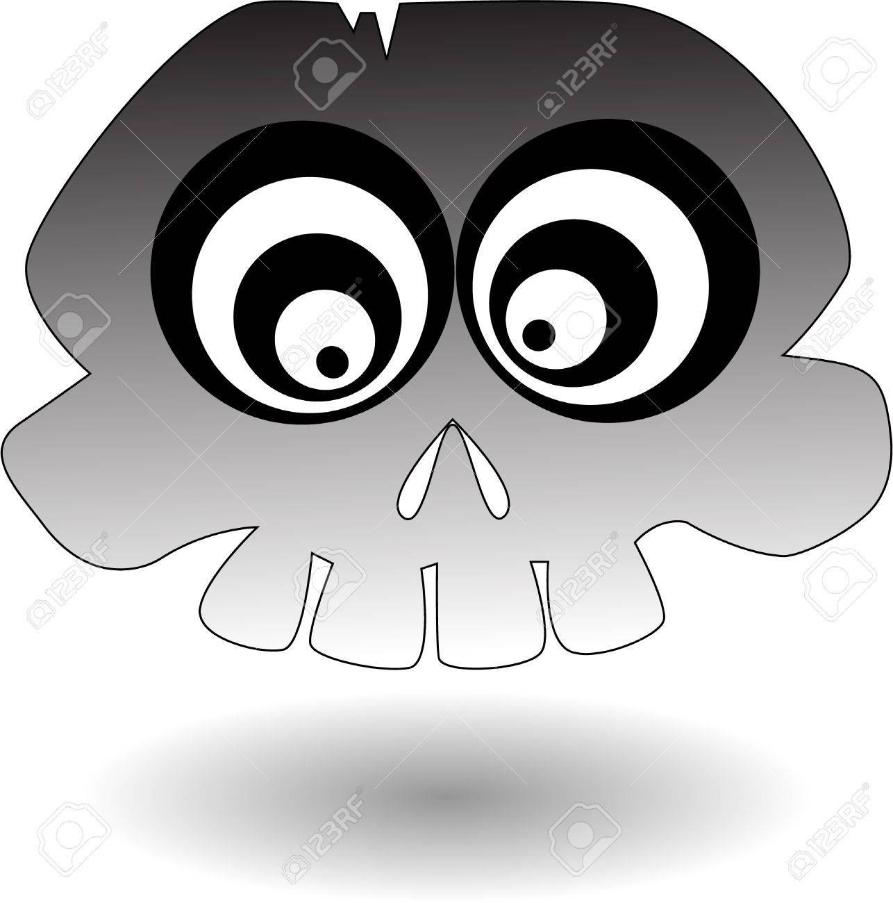 the vector cartoon skull Stock Vector - 5504973