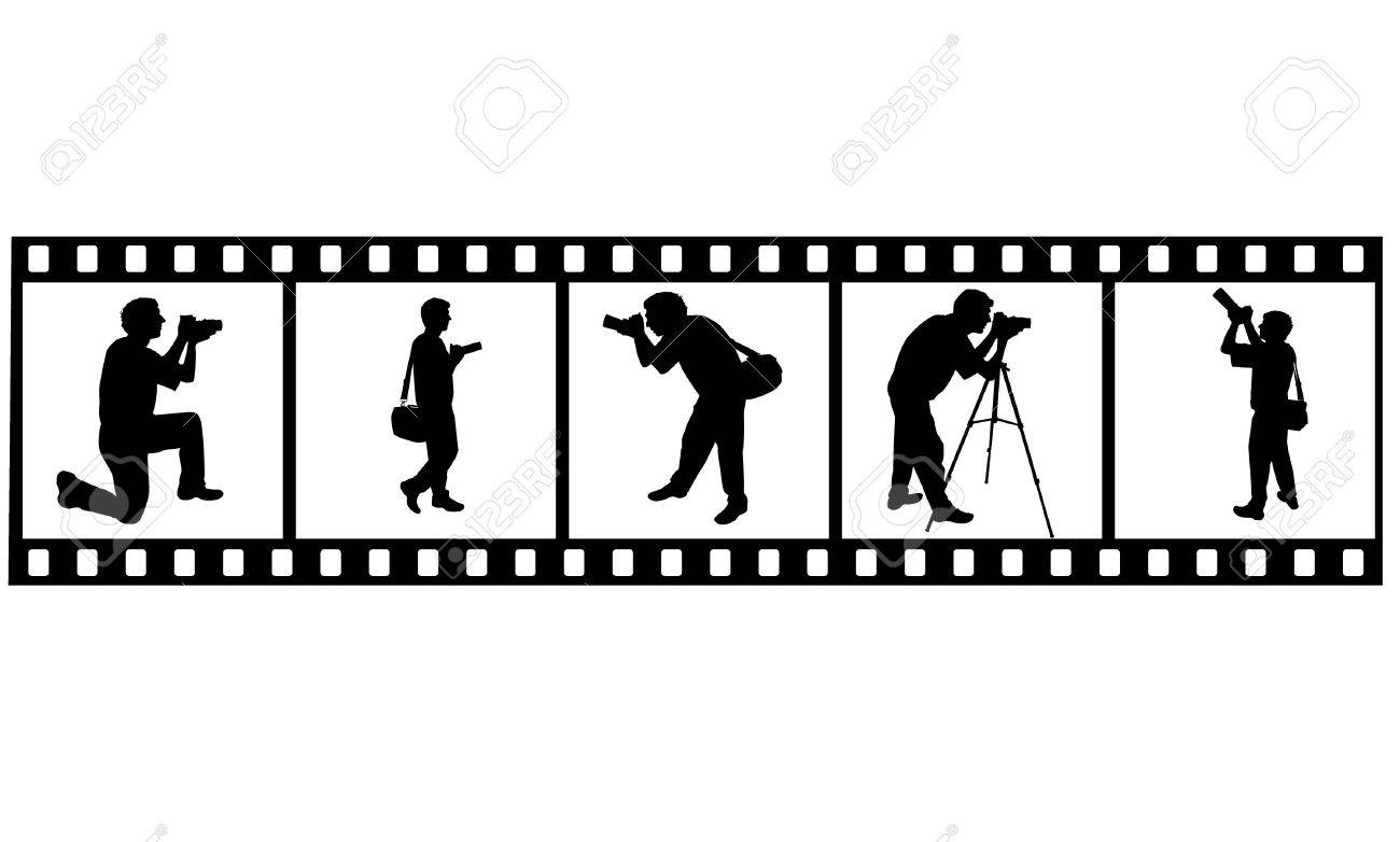 the Photographer's silhouette Stock Vector - 6745349