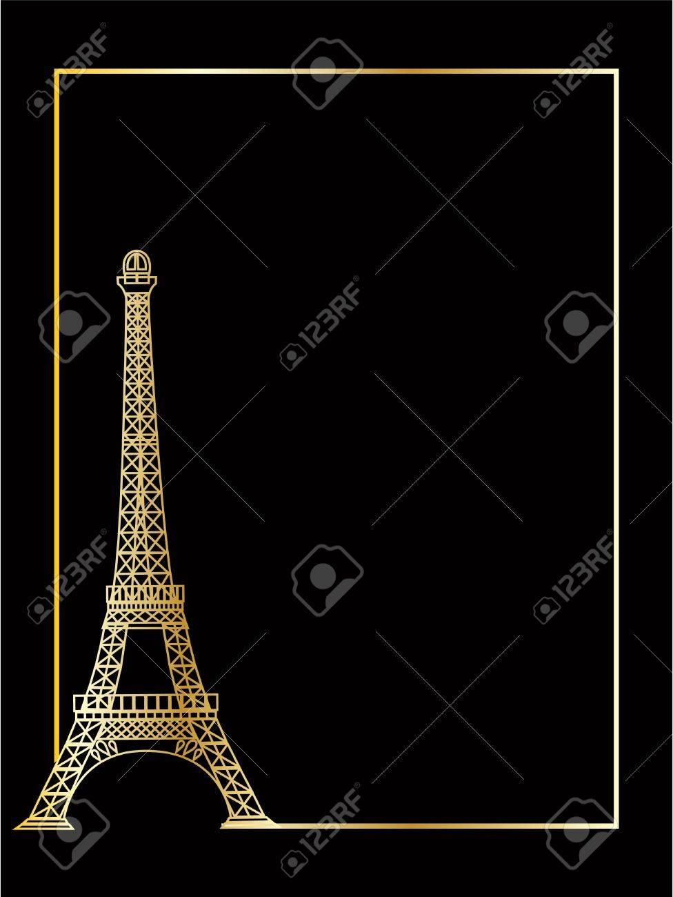 the vector eiffel tower eps 8 Stock Vector - 7143953